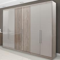 Guarda-roupa Casal 6 Portas 4 Gavetas THB - Platinum