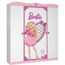 Guarda-Roupa Infantil 4 Portas 2 Gavetas - Pura Magia Barbie Star