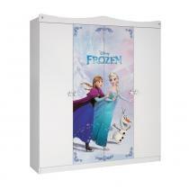 Guarda Roupa Infantil Frozen Disney Star 4 portas e 2 gavetas internas - Pura Magia - Pura Magia