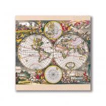 Guardanapo World Map 33X33 cm Paper Design - Paper Design