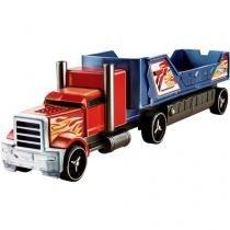 Hot Wheels Caminhão Batida - com Veículo Azul e Vermelho - Mattel