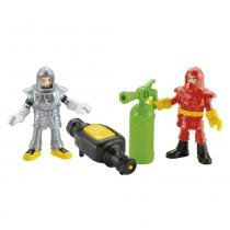 Imaginext - Bonecos Imaginext City Bombeiros do Aeroporto - Fisher Price - Fisher Price