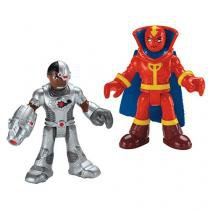 Imaginext Figuras Liga da Justiça - Cyborg e Red Tornado - Fisher-Price