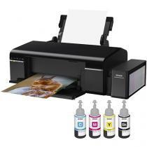 Impressora Epson EcoTank L805 Jato de Tinta - Wi-Fi + 4 Refil de Tinta Preto/Ciano/Magenta/Amelo