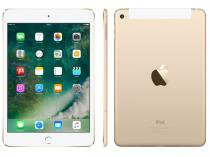 "iPad Mini 4 Apple 4G 128GB Dourado Tela 7,9"" - Retina Proc. Chip A8 Câm. 8MP + Frontal iOS 10"