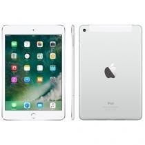 "iPad Mini 4 Apple 4G 64GB Prata Tela 7,9"" Retina - Proc. M8 Câm. 8MP + Frontal iOS 9 Touch ID"