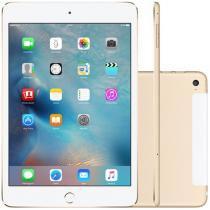 "iPad Mini 4 Apple 64GB Dourado Tela 7,9"" Retina 4G - Wi-Fi Processador M8 Câmera 8MP + Frontal 1.2MP"