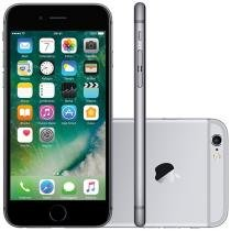 "iPhone 6S Apple 16GB Cinza Espacial 4G Tela 4,7"" - Retina Câm. 12MP + Selfie 5MP iOS 9 Proc. Chip A9"