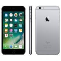 "iPhone 6S Plus Apple 128GB Cinza Espacial 4G - Tela 5.5"" Retina Câm. 12MP + Selfie 5MP iOS 9"