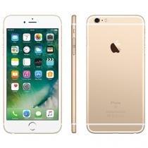 "iPhone 6S Plus Apple 128GB Dourado 4G Tela 5.5"" - Retina Câm. 12MP + Selfie 5MP iOS 9 Proc. Chip A9"