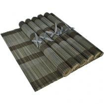 Jogo Americano Retangular 6 Peças 100% Bambu - Casambiente JGAM008