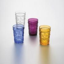 Jogo de 6 Copos Flor de Lis para Água - Violeta - Lyor Design