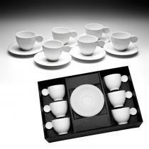 Jogo de 6 Xícaras para Café com Pires Jupy - Bon Gourmet