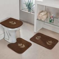 Jogo de Banheiro Tulipa Café - Colorido - Guga Tapetes