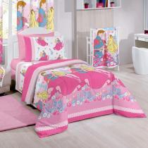 Jogo de Cama infantil Princesas Disney Garden - 100 Algodão - Santista - Santista