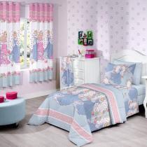 Jogo de Cama / Lençol Solteiro Disney - Princess World 3 Peças 129 Fios - Santista