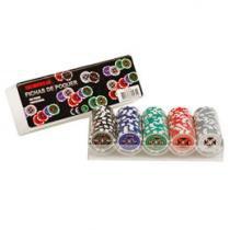 Jogo de Poker Profissional 100 Fichas - Incasa FN0001