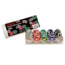 Jogo de Poker Profissional 100 Fichas - Incasa FN0002