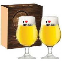 Jogo de Taças Vidro 2 Peças - Ruvolo The Beer Glass I Love Beer Bégica