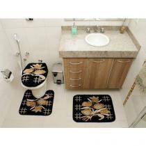 Jogo de Tapete para Banheiro Royal Luxury - 3 Peças - Rayza