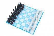 Jogo de Xadrez Carlu C/ 32 Peças Tabuleiro MDF 20x20cm 1235 - Carlu