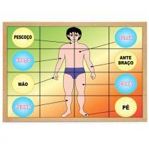 Jogo Quebra-Cabeça Corpo Humano com 16 Peças + 1 Base 1190 - Carlu - Carlu