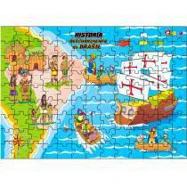 Jogo Quebra-Cabeça História Descobrimento do Brasil em MDF 1505 - Carlu - Carlu