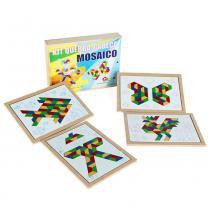 Jogo Quebra-Cabeça Mosaico em MDF com 160 Peças + 1 Base 1201 - Carlu - Carlu