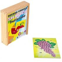 Jogo Quebra-Cabeça Silábico Frutisílaba com 18 Peças + 1 Base 1050 - Carlu - Carlu