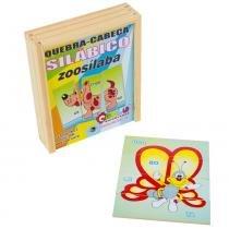 Jogo Quebra-Cabeça Silábico Zoosílaba com 18 Peças + 1 Base 1054 - Carlu - Carlu