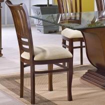 Kit 2 Cadeiras Ripada e Estofada Grécia com Acabamento Verniz Poliuretano - Madeira Eucalipto - Castanho - Seiva