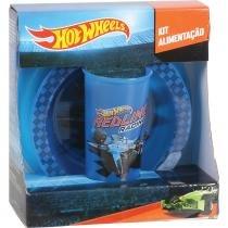 Kit Alimentação Hot Wheels Mattel Baby Go Prato Flat Prato Bowl e Copo 340ml 1667 - Baby Go