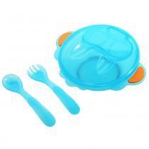 Kit Alimentação Infantil Liso Azul - Kitstar - KitStar