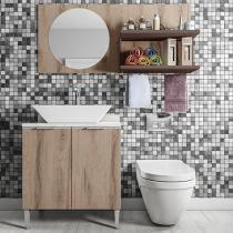 Kit Armário para Banheiro Líder Casa Aroma - 2 Portas