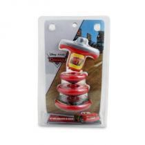 Kit Com 3 Piões e Lançador Carros Disney - Toyng - Toyng