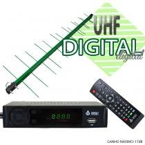 Kit Conversor Digital Infokit 1080p ITV-200 + Antena Capte banda total custom log 14/28e 18dBi Verde - Infokit - Next