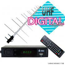Kit Conversor Digital Infokit 1080p ITV-200 + Antena Capte banda total UHF Digital 14/28e - Infokit - Next