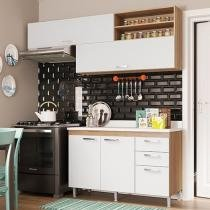 Kit Cozinha Balcão e Áreo Multimóveis Toscana - 4 Portas 3 Gavetas