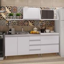Kit Cozinha Completa Móveis Florença 3 Portas - 6 Gavetas