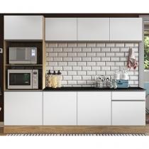 Kit Cozinha Multimóveis Linea Nicho para Forno - Micro-ondas 8 Portas 1 Gaveta