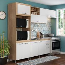 Kit Cozinha Multimóveis Toscana 5057.132.131 - Nicho para Forno ou Micro-ondas 7 Portas 3 Gavetas