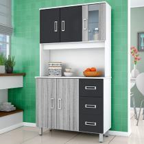 Kit Cozinha Poliman Móveis Caribe - 5 Portas 3 Gavetas