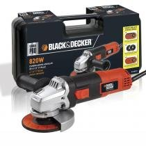 Kit Esmerilhadeira BlackDecker + Maleta + 12 Discos G720K12 - 110v - Black  Decker