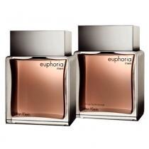 Kit Euphoria Men Calvin Klein - Masculino - Eau de Toilette - Perfume + Loção Pós-Barba - Calvin Klein