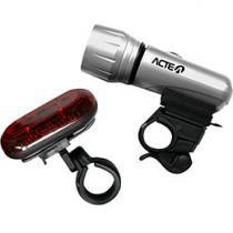 Kit Farol e Lanterna para Bicicleta - Acte Sports