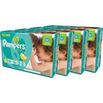 Kit Fraldas Pampers Total Confort Tam G 4 Pacotes - com 38 Unidades Cada