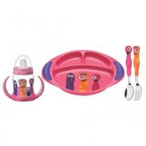 Kit Infantil 4 Peças Rosa - Tramontina - Rosa - Tramontina