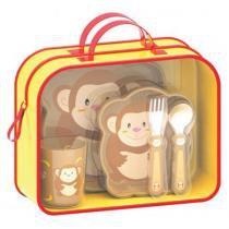 Kit Lancheira Infantil Macaco Zoo RK035 - Girotondo - Girotondo