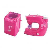 Kit Mini Utilidade Barbie Máquina de Lavar e Máquina de Costura - Líder - Barbie