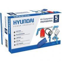 Kit p/ Compressor Hyundai HYK5P-C - Mangueira - Calibrador-Pistola p/ Limpeza/Pintura/Pulverização